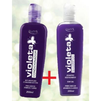 kit cabelos loiros e branco shampo e condicionador violeta 250ml